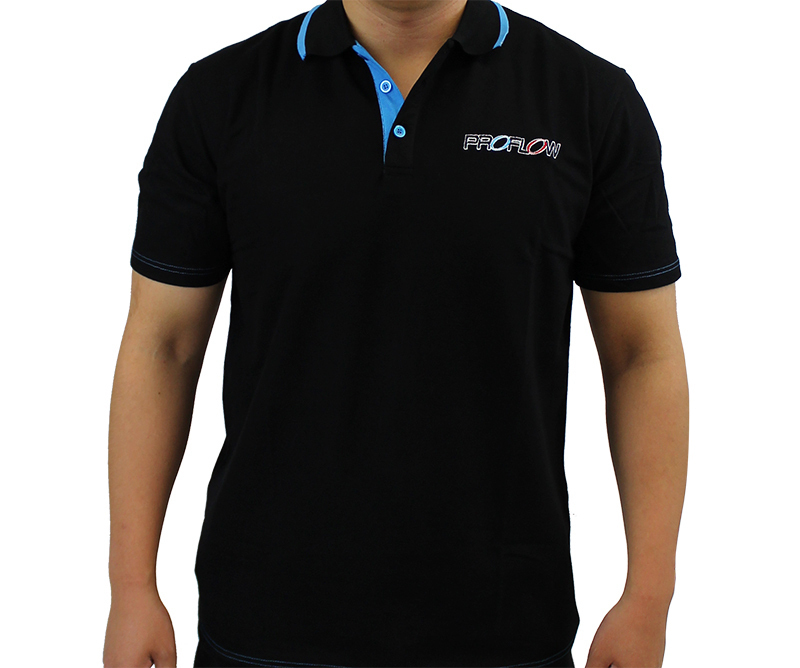 PROFLOW CORPERATE POLO BLACK/BLUE