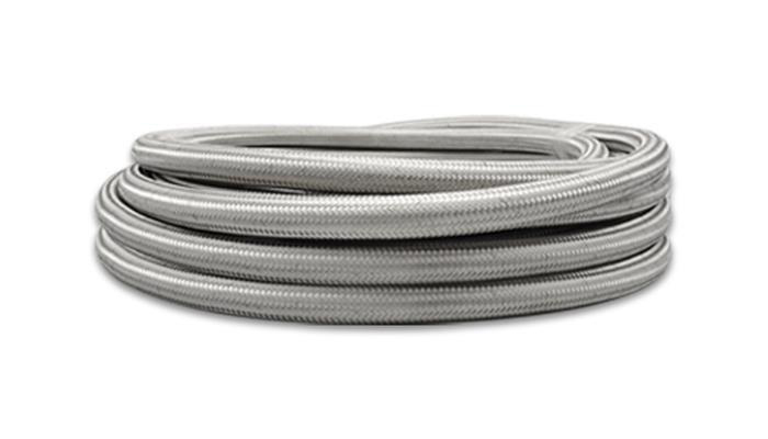 Bulk 25m Roll Stainless Braided Hose -06AN E85/Methanol