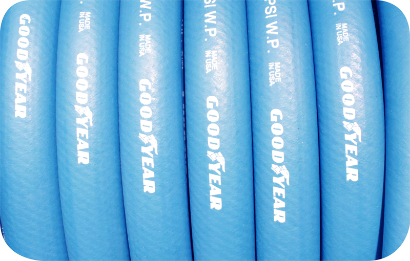 BLUE PUSH ON RUBBER FUEL HOSE -12 PER MT (3/4') GOODYEAR