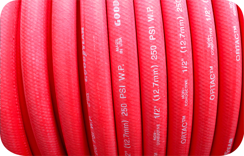 RED PUSH ON RUBBER FUEL HOSE -12 PER MT (3/4') GOODYEAR