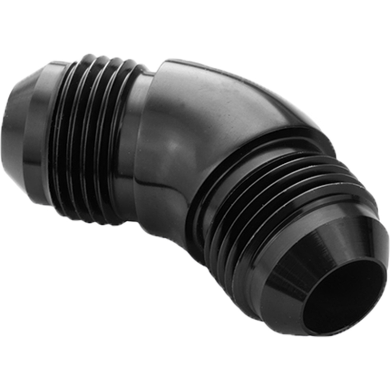 45 Degree Union Flare Adaptor Fitting -08AN, Black