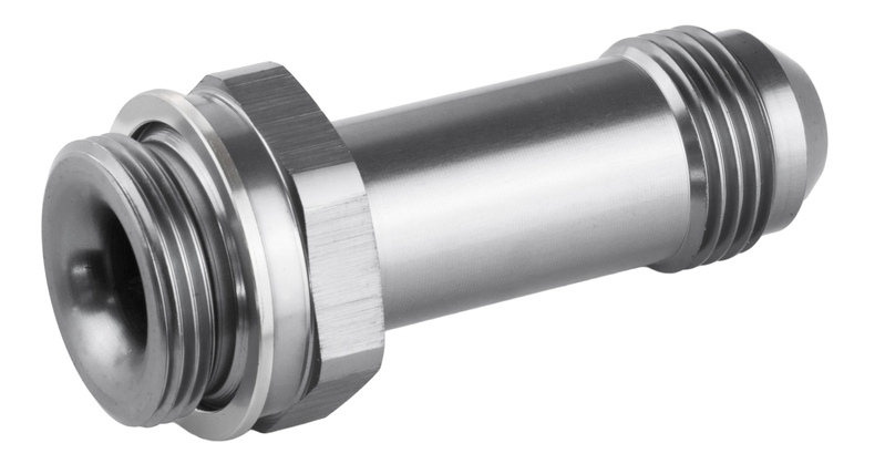 "Fitting Inlet Fuel Adaptor Male Holley Fuel Bowl 7/8 x 20 -08AN 2"", Silver"