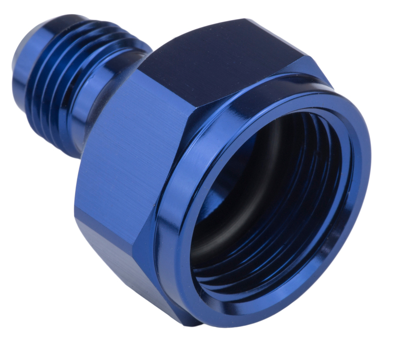 Female Adaptor -10AN To -08AN Male Reducer, Blue