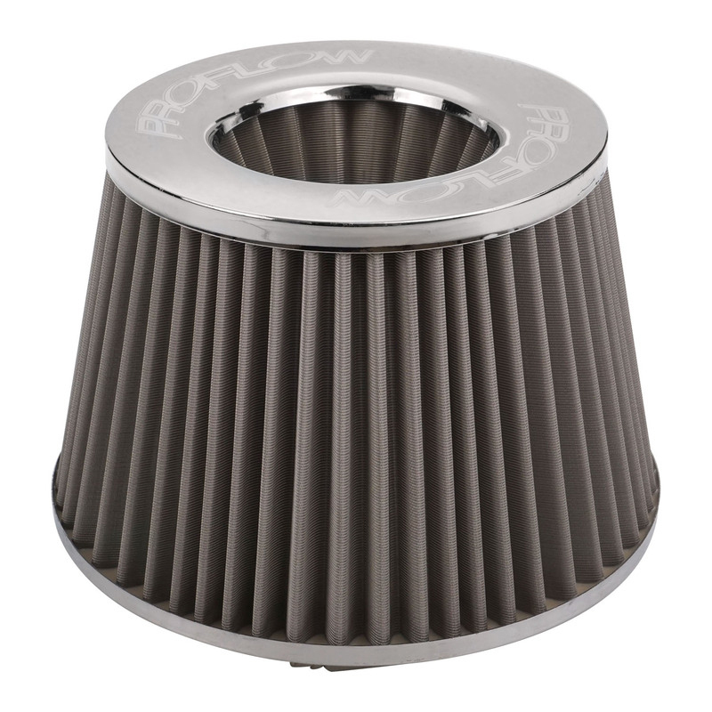 Air Filter Pod Style Stainless 100mm High 63.5mm (2-1/2') Neck