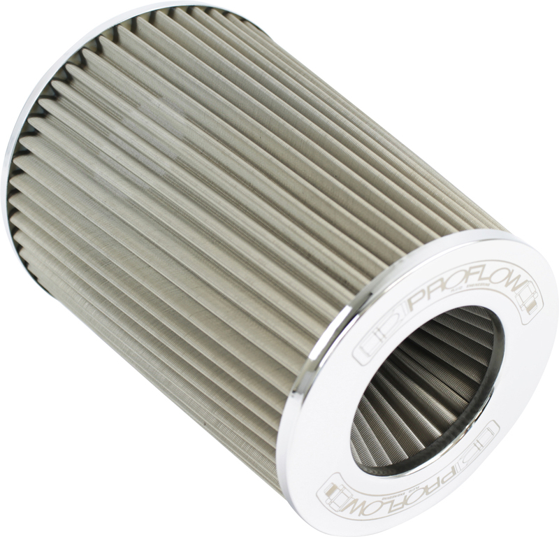 "Air Filter Pod Style Stainless Steel 190mm High 76mm (3"" ) Neck"