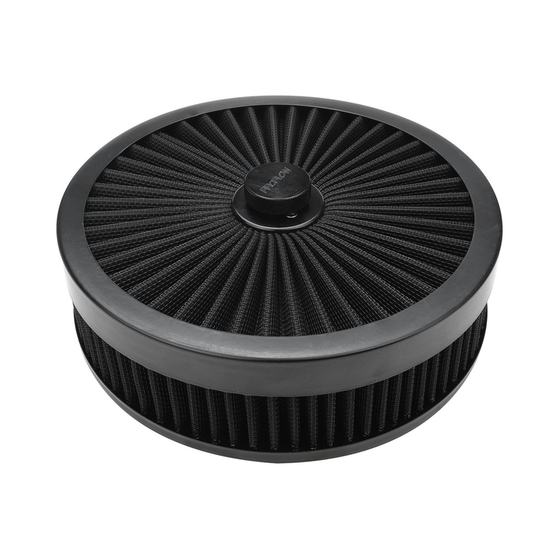 Air Filter Assembly Flow Top Round Black 9in. x 3in. Suit 5-1/8in. Flat Base