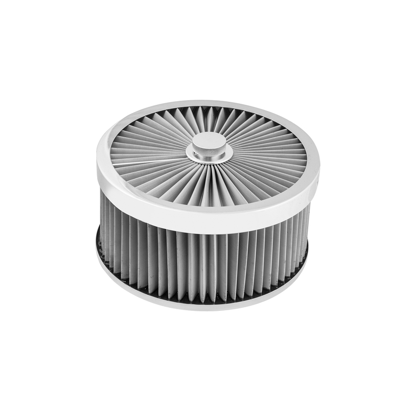 Air Filter Assembly Flow Top Round Stainless Steel 9in. x 4in. Suit 5-1/8in. Flat Base