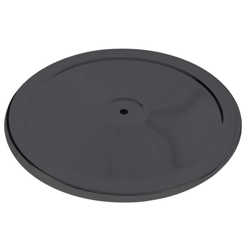 "Air Filter Top Round 14"", Black"