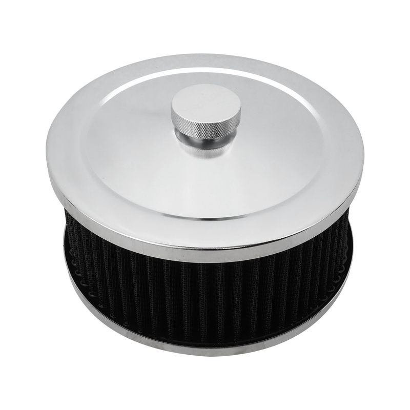 Air Filter Assembly Round 6in. x 3in., Chrome