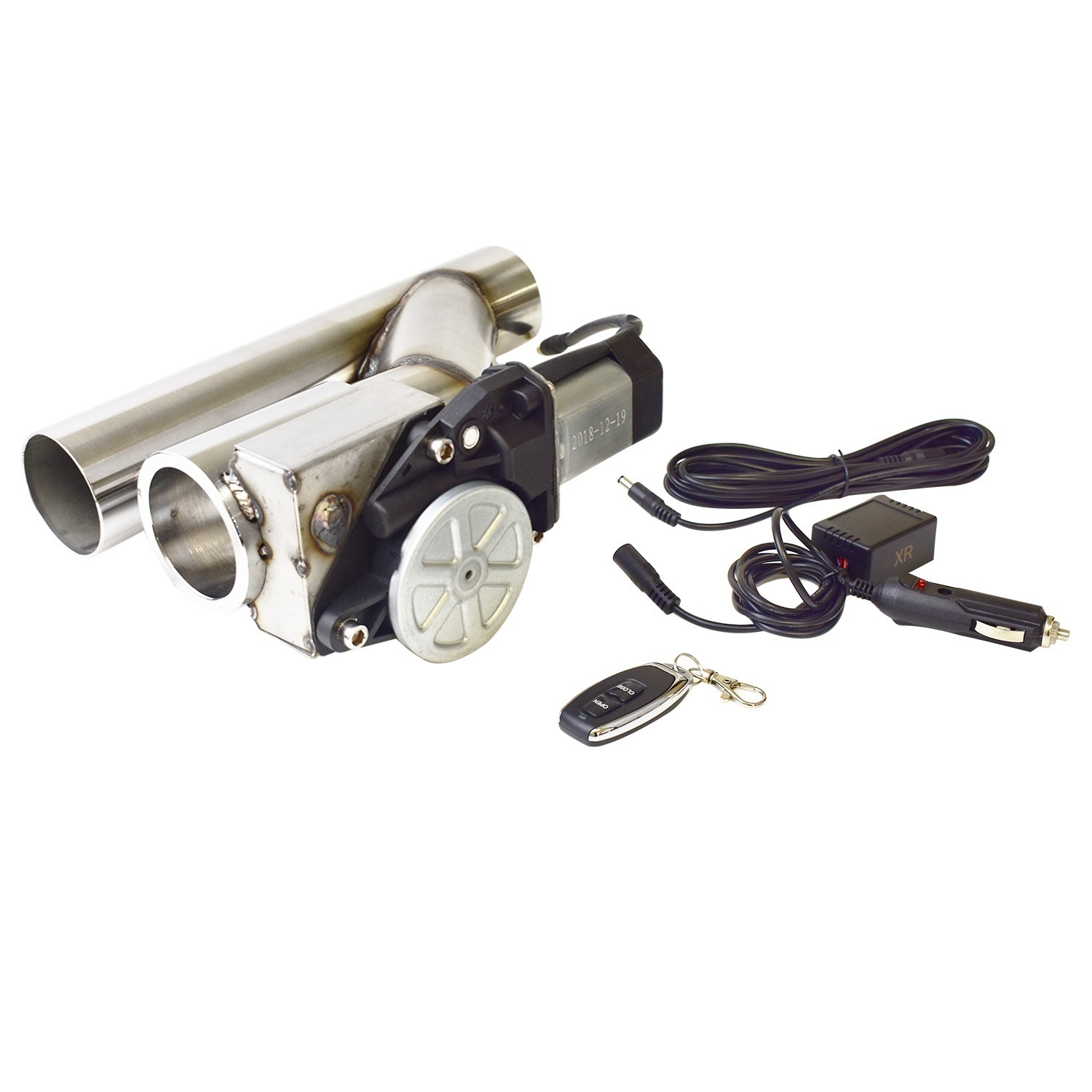 Stainless Electric Exhaust Cut Outs Series II with Remote controller Remote 2.5in.