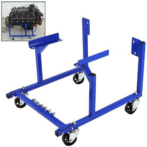 Engine Dolly, Steel, Black Powder coat, Wheels Included, Ford SB, Each