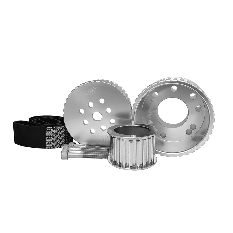 Pulley Kit, Billet, Silver Gilmer Drive, belt Ford Big Block 429 460, Silver