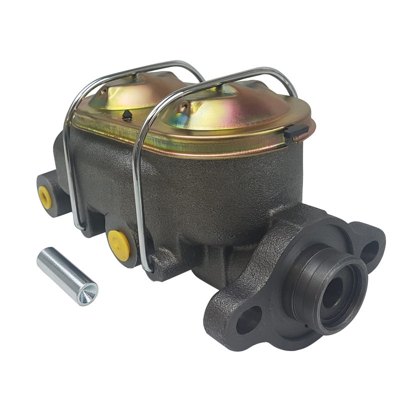 Master Cylinder, Cast Iron, Natural, 1.125in. Bore, Dual Bowl, Ports both sides Chev Universal