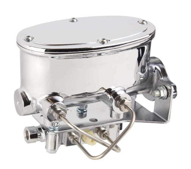 Master Cylinder, Aluminum, Polished, 1.000 in. Bore, Dual Bowl, Disc/Disc with Proportioning Valve Kit