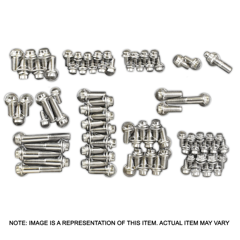 Stainless 12 point Engine bolt Accessory Kit Chevrolet Big Block