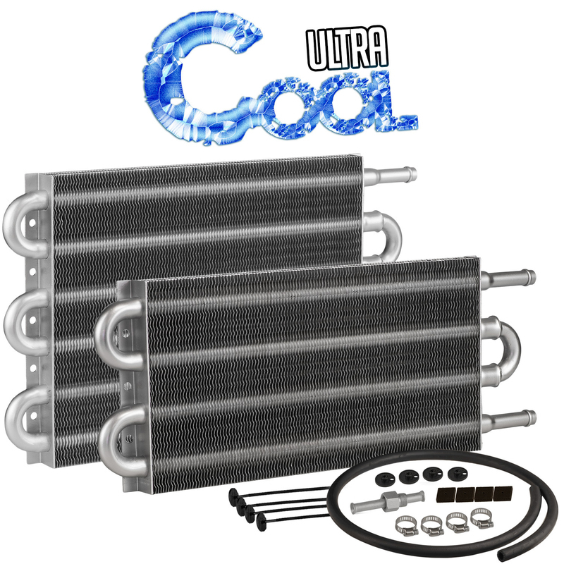 "Ultra Cool 7.5"" x 12-3/4 Transmission Cooler 3/8"" Push On, Tube & Fin, Gvw 16500"