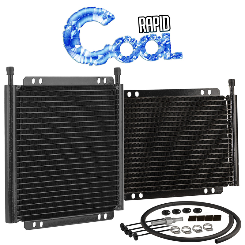 "Rapid Cool 11"" x 7-1/2"" Transmission Cooler 11/32"" Push On, 13 Rowplate & Fin, Gvw 17500"