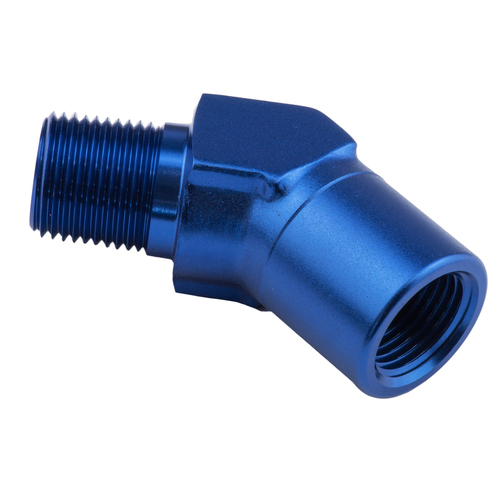 45 Degree Coupler Female - Male Elbow 3/4in. NPT, Blue