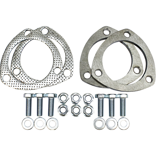 Collector Rings, 3.00 in., 3-Bolt Flange, Steel, Natural, Pair